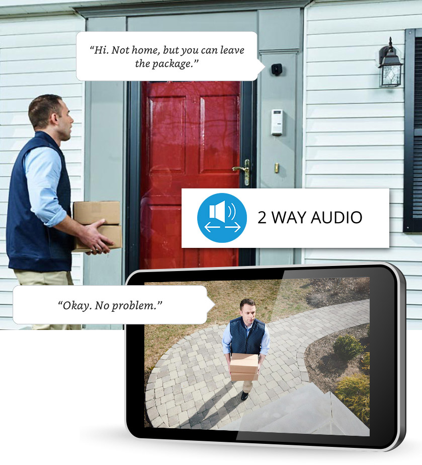 2 Way Audio Right at your front door